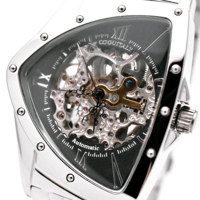 COGU - コグ 腕時計 メンズ COGU スケルトン 自動巻き ブランド おしゃれ 黒の通販 by おもち's shop|コグならラクマ