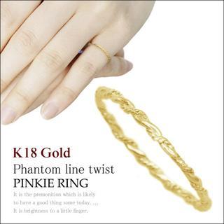 ピンキーリング 1号 から K18 イエロー ゴールド 極細 シンプル(リング(指輪))