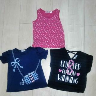 シマムラ(しまむら)の女の子トップス半袖Tシャツ110まとめ売り(Tシャツ/カットソー)