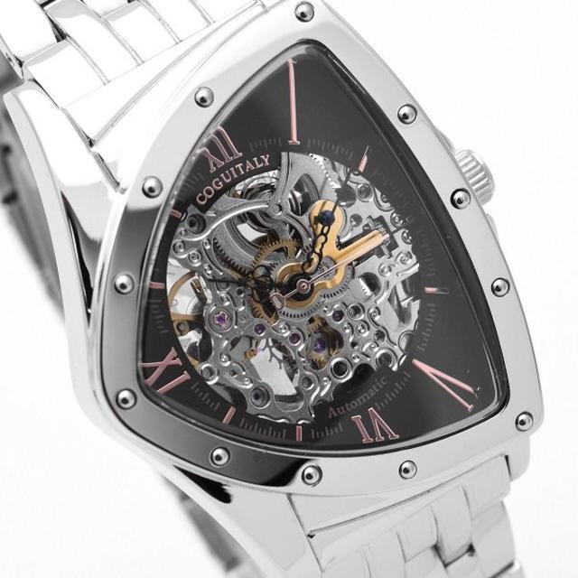 COGU - コグ 腕時計 メンズ スケルトン 自動巻き COGU シルバーの通販 by おもち's shop|コグならラクマ