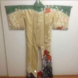 フリフ(ふりふ)の【のっぽ様専用】友禅 訪問着 フォーマル 正装 結婚式 正絹 着物(着物)