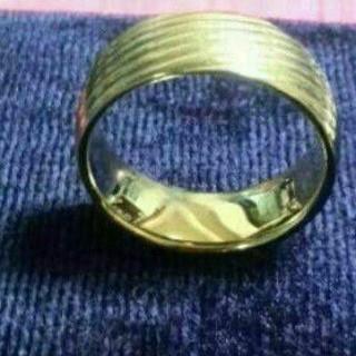 ラブリング お値下げ!STM 316L ゴールドのリングサイズ17です  (リング(指輪))