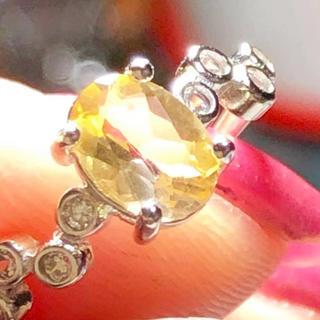 天然石非加熱 シトリン シルバー925リング💕👍(リング(指輪))