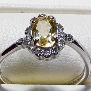 天然石非加熱シトリン シルバー925リング💕😍(リング(指輪))