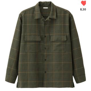 GU - GU オープンカラーシャツ グレンチェック Sサイズ
