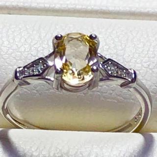 天然石非加熱シトリン シルバー925リング💕👍(リング(指輪))
