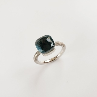 マディソンブルー(MADISONBLUE)のカラーストーンリング    ブルーブラック/ホワイト(リング(指輪))