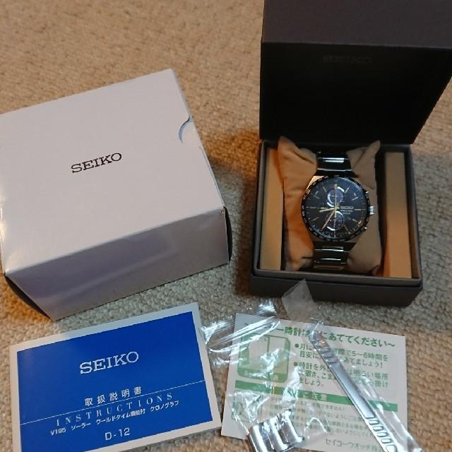 SEIKO - 極美品 レアSEIKO スピリット  ソーラー ワールドタイム  SBPJ031の通販 by すくすくs shop|セイコーならラクマ