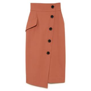 フレイアイディー(FRAY I.D)のアシメボタンタイトスカート  FRAY I.D(ロングスカート)