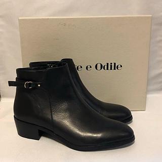 Odette e Odile - 新品未使用 odett e odile 本革ショートブーツ オデットエオディール