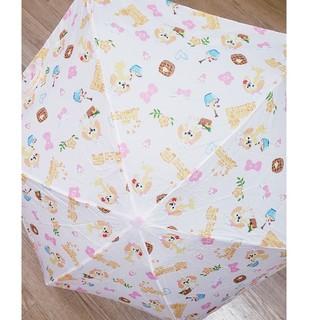 ダッフィー(ダッフィー)の香港ディズニー❣ダッフィークッキー柄 折り畳み傘(傘)