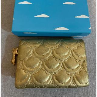 TSUMORI CHISATO - ツモリチサト 二つ折り財布 ネコ×ゴールド