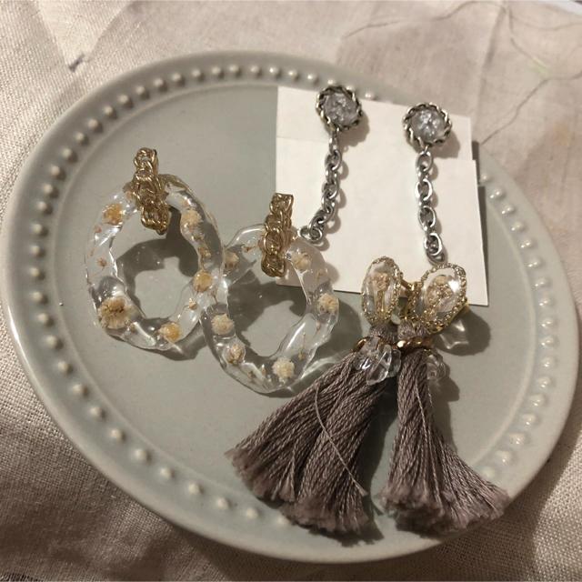 Kastane(カスタネ)の人気作家さんイヤリングセット ハンドメイドのアクセサリー(イヤリング)の商品写真