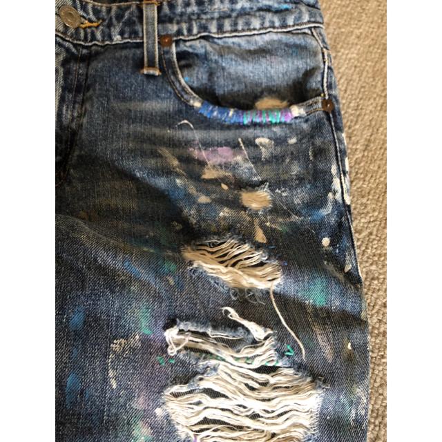POLO RALPH LAUREN(ポロラルフローレン)のラルフローレン ペイントデニム   サイズ27  レディース レディースのパンツ(デニム/ジーンズ)の商品写真
