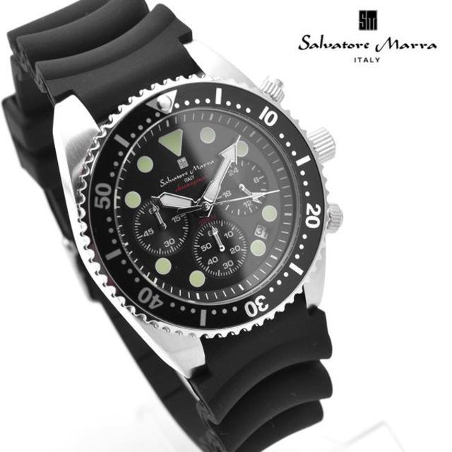 Salvatore Marra - サルバトーレマーラ 腕時計 メンズ 20気圧 防水 時計 ブラック 黒の通販 by おもち's shop|サルバトーレマーラならラクマ