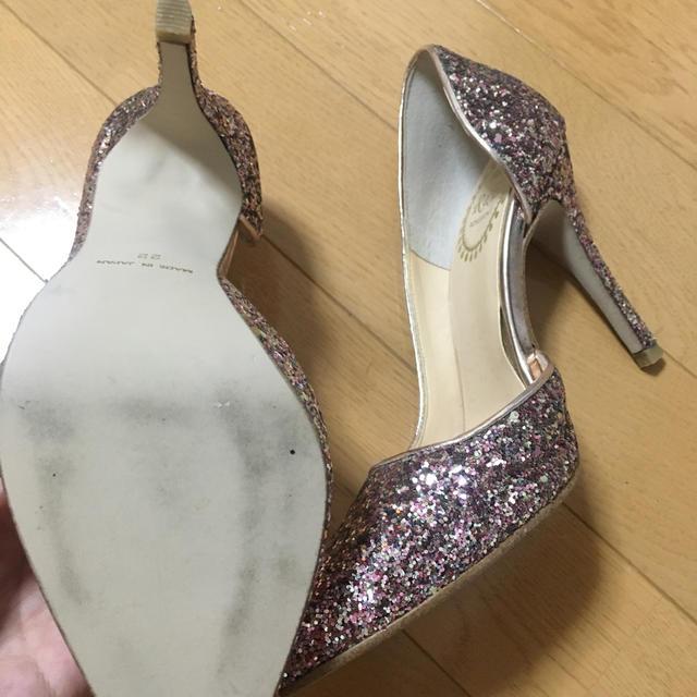 R&E(アールアンドイー)のR&E グリッターパンプス  レディースの靴/シューズ(ハイヒール/パンプス)の商品写真