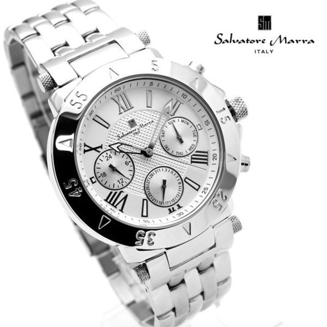 Salvatore Marra - サルバトーレマーラ 腕時計 メンズ ホワイト シルバー デイデイトの通販 by おもち's shop|サルバトーレマーラならラクマ