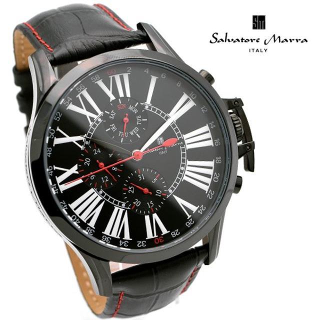 Salvatore Marra - サルバトーレマーラ 腕時計 メンズ ブラック デイデイト 人気の通販 by おもち's shop|サルバトーレマーラならラクマ