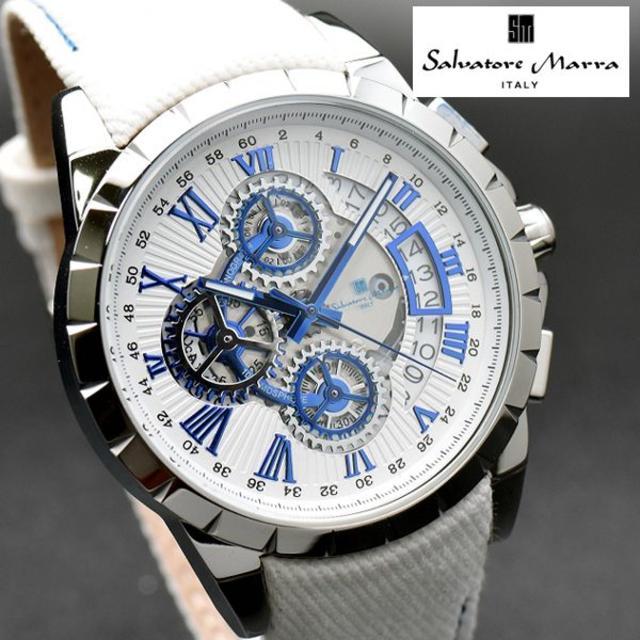 Salvatore Marra - サルバトーレマーラ 腕時計 デニム×レザー ホワイト ブランドの通販 by おもち's shop|サルバトーレマーラならラクマ