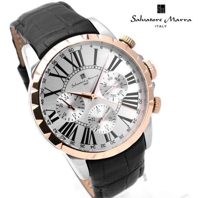 Salvatore Marra - サルバトーレマーラ 腕時計 メンズ 人気 ブランド 時計 革ベルトの通販 by おもち's shop|サルバトーレマーラならラクマ