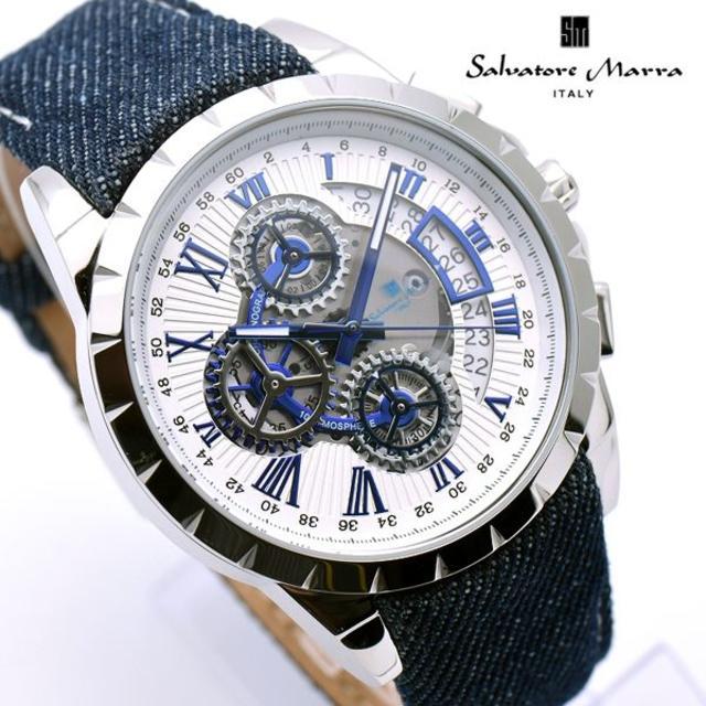 Salvatore Marra - サルバトーレマーラ 腕時計 メンズ デニム×レザー ベルト ブランドの通販 by おもち's shop|サルバトーレマーラならラクマ