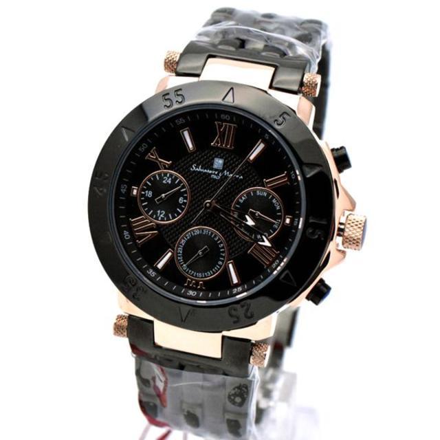 Salvatore Marra - サルバトーレマーラ 腕時計 メンズ ブランド 時計 ブラック ピンクゴールドの通販 by おもち's shop|サルバトーレマーラならラクマ