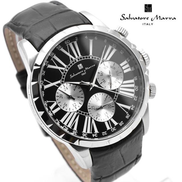 Salvatore Marra - サルバトーレマーラ 腕時計 メンズ ブランド ブラック 黒 革ベルトの通販 by おもち's shop|サルバトーレマーラならラクマ