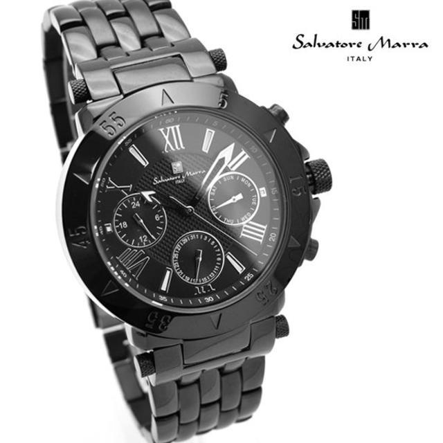 Salvatore Marra - サルバトーレマーラ 時計 メンズ ブラック 黒 人気 モデル ブランドの通販 by おもち's shop|サルバトーレマーラならラクマ
