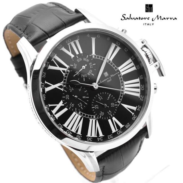 Salvatore Marra - サルバトーレマーラ 腕時計 メンズ ブラック 黒 人気 革 ブランド 時計の通販 by おもち's shop|サルバトーレマーラならラクマ