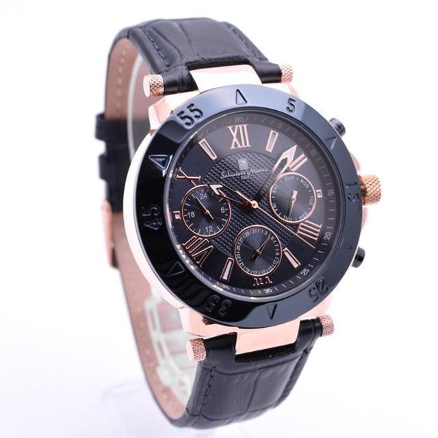 Salvatore Marra - サルバトーレマーラ 腕時計 メンズ 革ベルト ネイビー 時計 人気の通販 by おもち's shop|サルバトーレマーラならラクマ