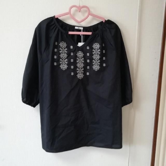 しまむら(シマムラ)のプチプラのあや 刺繍トップス レディースのトップス(シャツ/ブラウス(長袖/七分))の商品写真