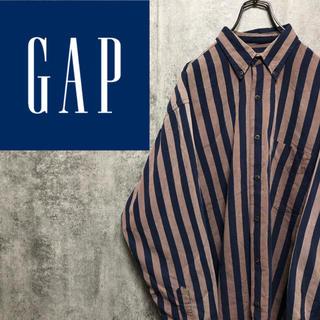 ギャップ(GAP)の【激レア】オールドギャップGAP☆レトロストライプシャツ 90s(シャツ)