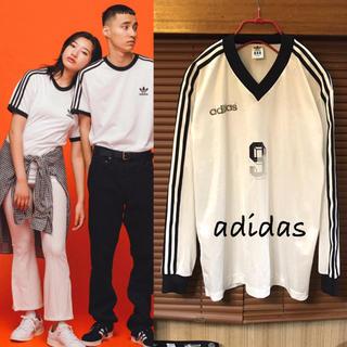 アディダス(adidas)の90's 古着《★ アディダス ★》スリーストライプス ロングスリーブ Tシャツ(Tシャツ(長袖/七分))