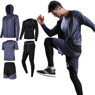コンプレッションウェア セット スポーツウェア メンズ 半袖 長袖 吸汗速乾(ウェア)