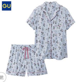 GU - GU パジャマ 半袖短パン ディズニー ミッキー