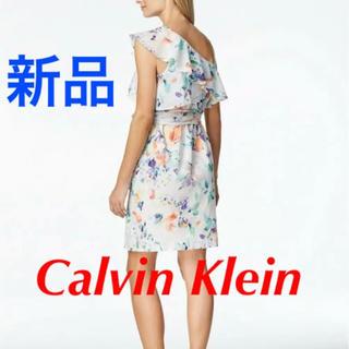 カルバンクライン(Calvin Klein)の☆新品☆ Calvin Klein カルバンクライン 花柄ワンピース(ひざ丈ワンピース)