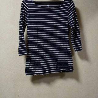 エイチアンドエム(H&M)のH&M ピンク×黒ボーダーT(Tシャツ(長袖/七分))