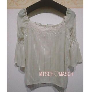 ミッシュマッシュ(MISCH MASCH)の【美品】MISCH♡MASCHベルスリーブブラウス(シャツ/ブラウス(長袖/七分))