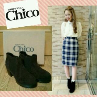 フーズフーチコ(who's who Chico)の【新品】Chico*サイドゴアブーツ(ブーツ)