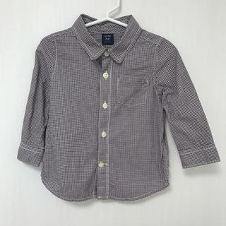 ベビーギャップ(babyGAP)の✦ฺ︎美品✦ฺ︎♡baby GAP♡シャツ 90 チェック 襟付き 子供(ブラウス)