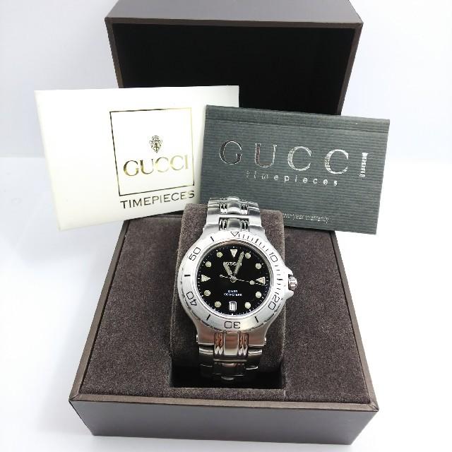 Gucci - GUCCI 腕時計 9750 M 稼働中の通販 by ティファ's shop|グッチならラクマ
