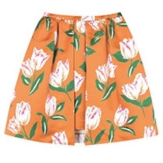 チェスティ(Chesty)のchesty チューリップスカート ※オレンジです(ひざ丈スカート)