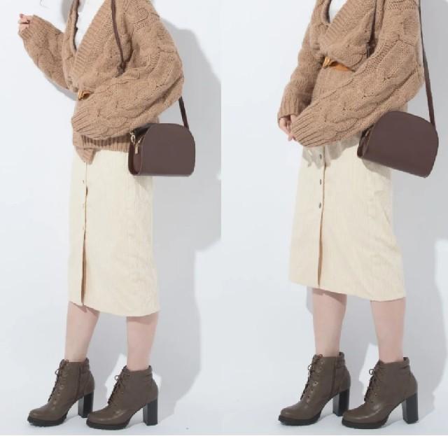GU(ジーユー)のGU コーデュロイ フロントボタン タイトスカート レディースのスカート(ひざ丈スカート)の商品写真