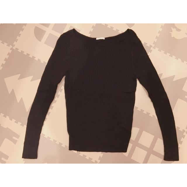 GU(ジーユー)の【送料無料】GU 黒 ニット レディースのトップス(ニット/セーター)の商品写真