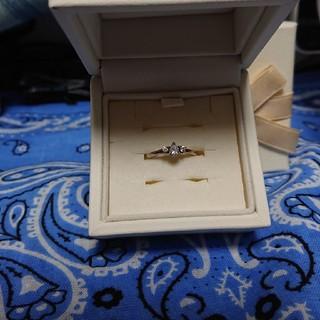 ヨンドシー(4℃)の4℃ 純銀リング(キュービックジルコニア)(リング(指輪))