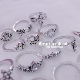 ♥️ Vintage Silver Catholic Rings Set(リング(指輪))