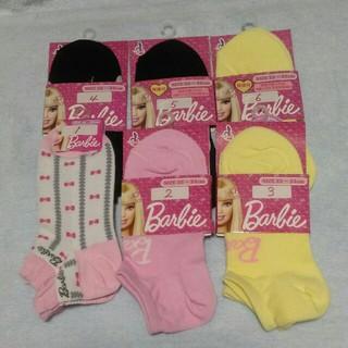 バービー(Barbie)のBarbie(バービー)♥スニーカーソックス 6足セット 22~24cm(靴下/タイツ)