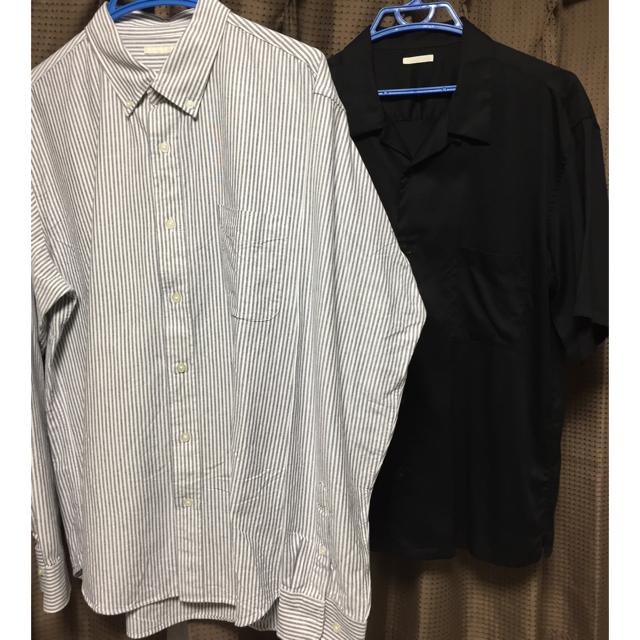 GU(ジーユー)のストライプシャツ オープンカラーシャツ GU  メンズのトップス(シャツ)の商品写真