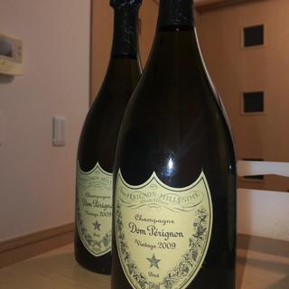 ドンペリニヨン(Dom Pérignon)の【2本】ドンペリ ヴィンテージ2009 750ml 箱なし(シャンパン/スパークリングワイン)