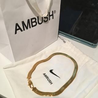アンブッシュ(AMBUSH)の新品 未使用ambush nike short necklaceゴールド(ネックレス)